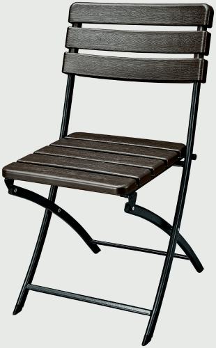 iKayaa – Lot de deux chaises pliantes style bois