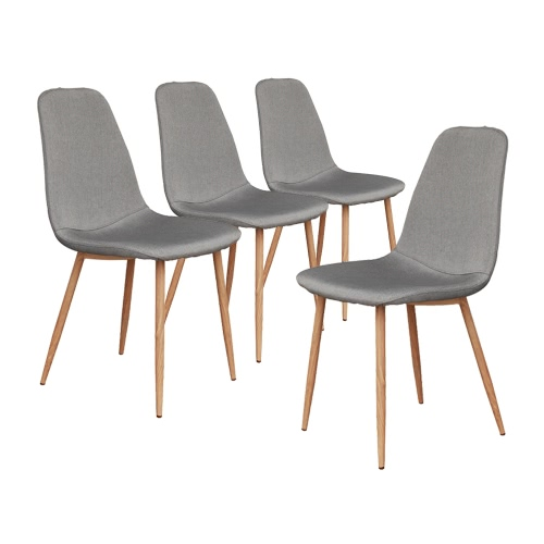 iKayaa Modern Rectangle 4 Dining Chairs