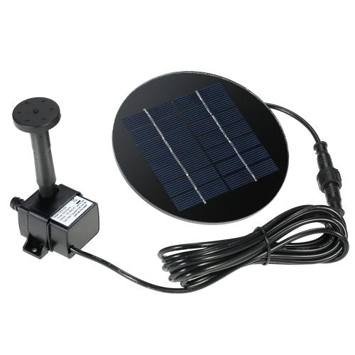 Anself 9V 1.5W panel słoneczny Solar Powered Kit Fontanna Pompa wodna zanurzeniowa bezszczotkowy o Bird Bath Pond Pull Garden