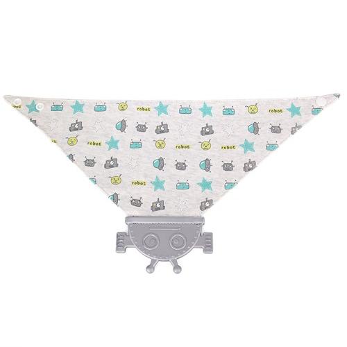 Удобная Мягкая Детские Силиконовые Слюна Карманный Кормление прорезыватели нагрудники BPA Free для новорожденных малышей хлопка Зубные Полотенце Симпатичный робот образный мультфильм Стиль