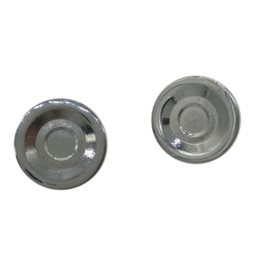 2Pcs Zinc Alloy Silver Plated Metal 608 Bearing Button Cover Cap for Fidget Finger Hand Spinner Toy Focus
