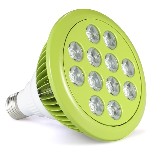 12W LED Plant Grow Light Hydroponic Lamp Bulb 9 Red 3 Blue LEDs for Indoor Flower Plants Growth Vegetable Greenhouse AC100-240V E27