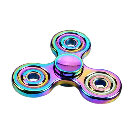 EDC Tri Fidget Hand Spinner Focus ADHD Autism Finger Toy Gyro New Desk Pocket Toy Colorful Zinc Alloy