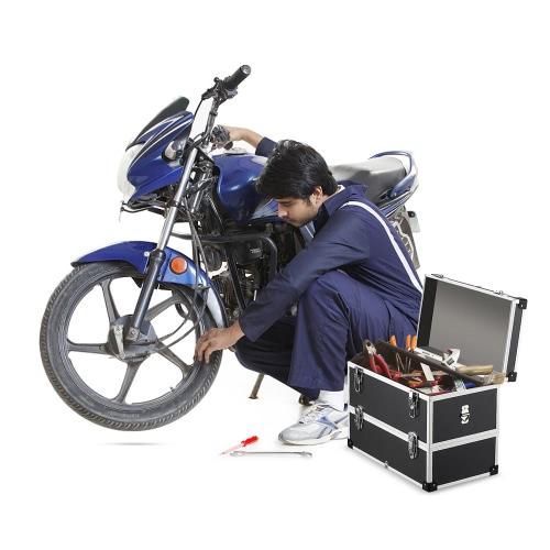 IKayaa Caja de herramientas multipropósito portátil de 2 capas
