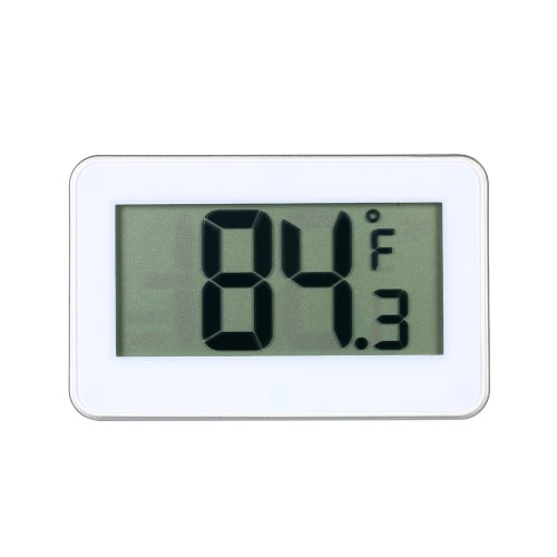 Digital LCD Display Fridge Freezer Refrigerator Frost Alert Thermometer Celsius Fahrenheit Switchable with Hook Rear Manget