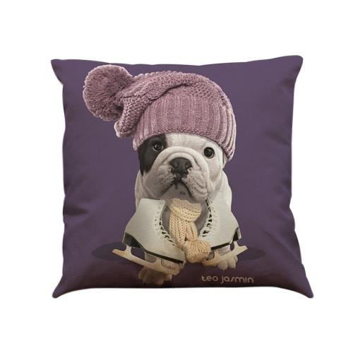 Простой модный бульдог-мопс-собака с наволочкой для младенцев