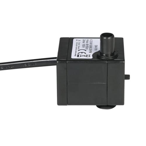 150L / H 2W Pompa ad acqua sommergibile per fontane per acquario Fountains per fontane e idroponiche con un ugello 4.9ft (1.5m) AC220-240V