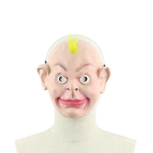 Реалистичная латексная человеческая маска Страшные смешные мужские мужские маски с эластичным ремешком для костюма для костюмов Halloween Cosplay Fancy Dress