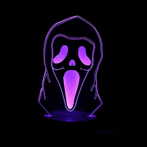 3D оптическая иллюзия Красочная светодиодная настольная лампа USB Powered Touch Button Halloween Night Light Домашнее украшение - Тыква