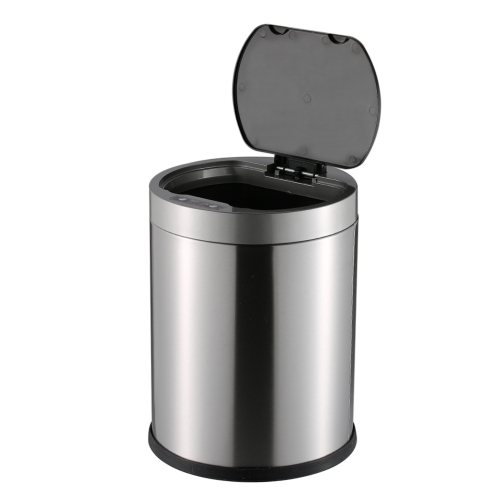 10L Smart Sensor Touchless Trash Can Stainless Steel Ash-bin Garbage Can Dust Bin Trash Bin