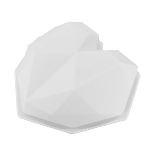Квадратные 3D-пузыри Силиконовые облака / Алмазная Любовь Сердце-образный мусс Кондитерский пирог DIY Craft Mold Biscuit Baking Tool для Fondant Jelly Brownie Шоколадные конфеты Десерт Украшение Nonstick Mold