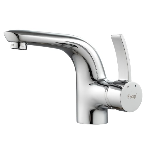 Frap Well Made Copper Mixer Tap Faucet Water Faucet High-end Single Handle Deck-mounted Bathroom Sink Faucet Basin Hot and Cold Water Mixer Tap