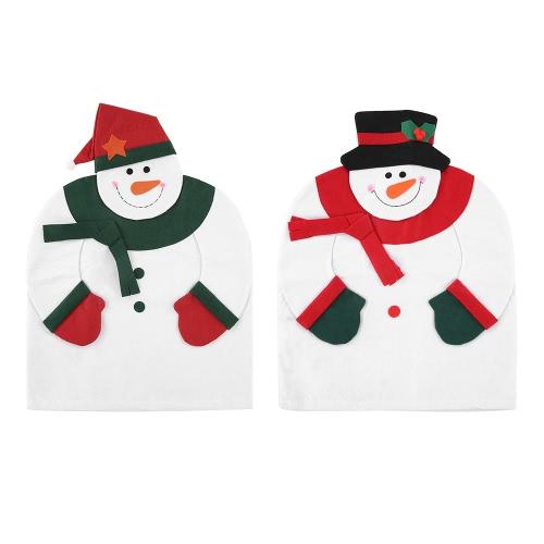 2pcs / set Weihnachtsstuhl-rückseitige Abdeckungen