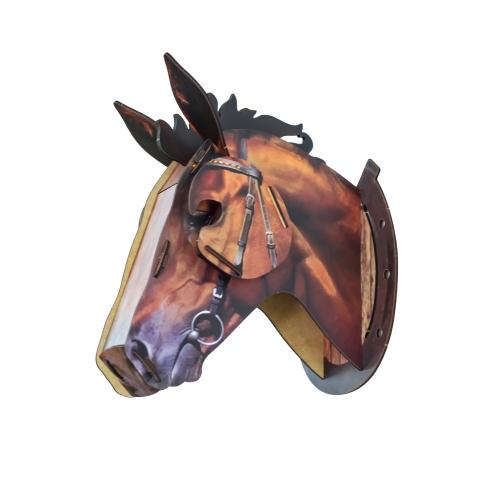 3D DIY Деревянный дом Animal Head Wood Home Decor MDF Crafts Art Wall Подвеска Украшение Подвеска Лучшие подарки Стиль 1