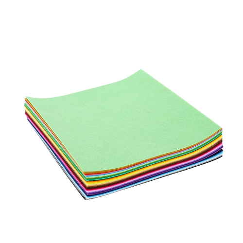 42 pcs Soft Felt Fabric Sheet DIY Craft Patchwork Sewing Squares Assorted Colors for Hobby Crafter 1mm Thick Style 2 30 X 30cm
