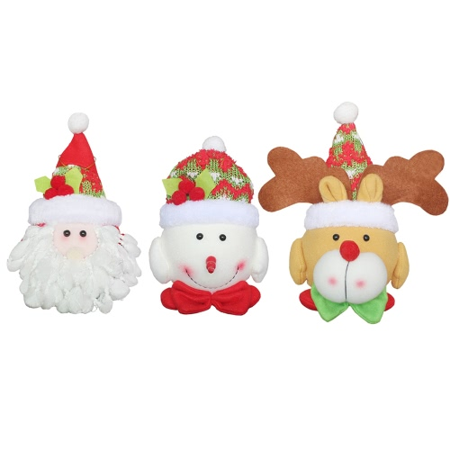 3pcs/set Christmas Tree Hanging Decoartions Gadgets Santa Snowman Reindeer Dolls Christmas Ornaments Decor
