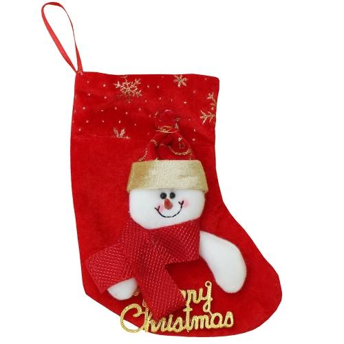 Gli ornamenti di Decoartions dell'albero di Natale del sacchetto di caramella del regalo di neve del Babbo Natale delle calze di natale 6pcs / set