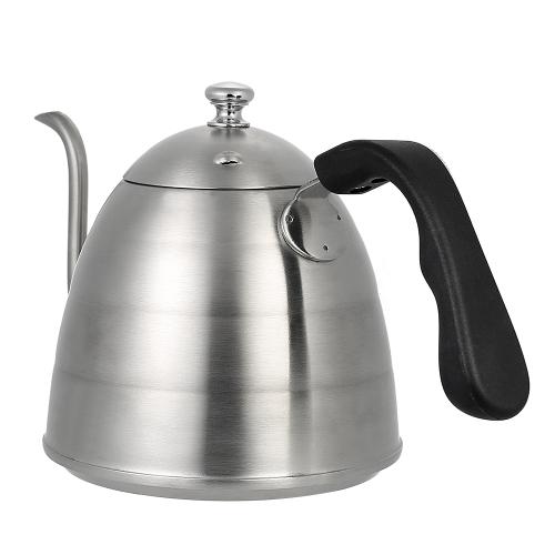 900ml Élégant col de cygne Cafetière haut de gamme en acier inoxydable Cafetière de bonne qualité Cafetière Café Bouilloire Gooseneck goutte à goutte café Bouilloire Stovetop Tea Pot 1
