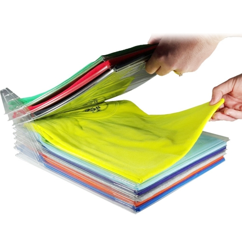 10 Layers Anti-wrinkle Neat Clothes Storage Holder Rack T-shirt Organizing System Travel Closet Organizer Shirt Folder
