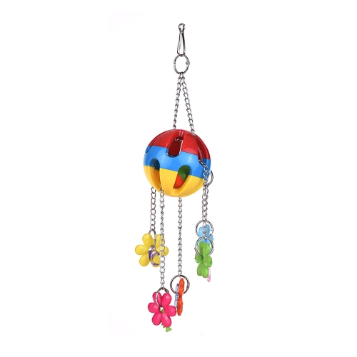 Color Bird Cage Accessories Acrylic Parrot Chew Toys Bite Swing Hanging Toy for Macaw African Greys Parakeet Cockatoo Cockatiel Conure Lovebirds Canaries