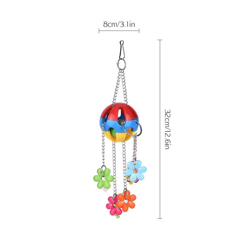 Color Bird Cage Accessories Acrylic Parrot Chew Toys Bite Swing Hanging Toy for Macaw African Greys Parakeet Cockatoo Cockatiel Co