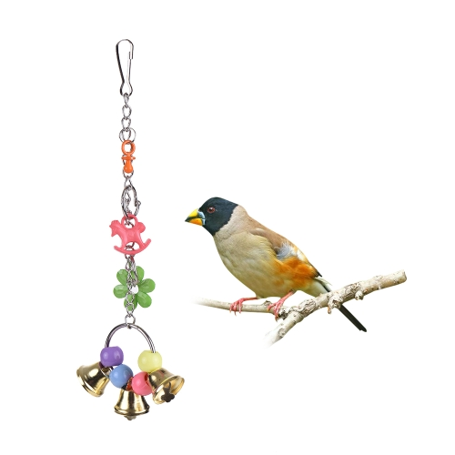 Colorful Parrot Chew Bite Toy Acrylic Bird Hanging Swing Bridge Toys Cage Accessories for Parakeet Budgie Macaw