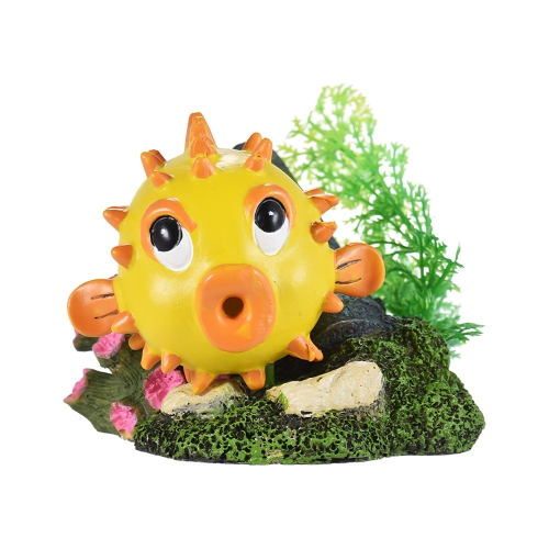 Imitation Puffer Globefish Ornament for Air Bubble Stone Oxygen Pump Aquarium Fish Tank Decor Decoration Decorative Eco-friendly Resin