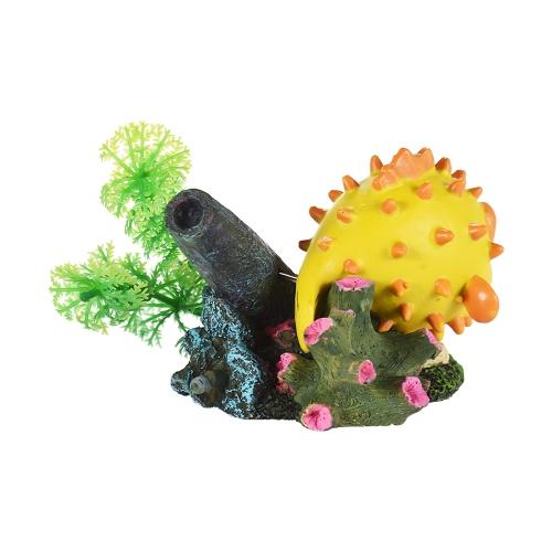 Имитация Puffer Globefish орнамент для воздуха Bubble Stone кислородный насос Aquarium Fish Tank Decor Decor Декоративная экологичная смола