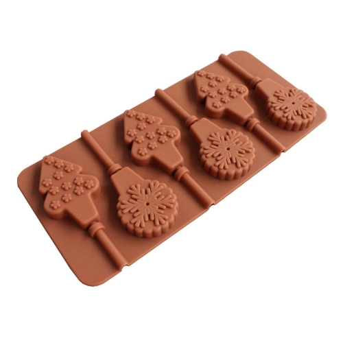 Silicone Lollipop Mold DIY Baking Cookware Stain Odor Resistant Silicone Baking Tray Cupcake   Pan Chocolate Mold