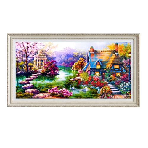 Diamond Painting Cabin Needlework Rhinestone Embroidery Mosaic Drawing DIY Home Decor Best Gift Hobbies and Crafts Shiny Painting