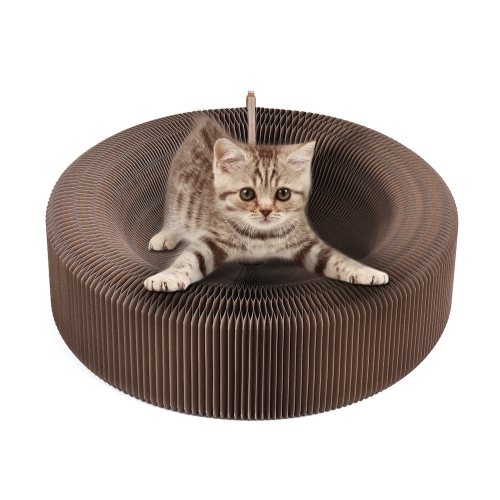 Складные кошки Царапины Картон Гофрокартон Кровать Lounge Игрушки для котенка