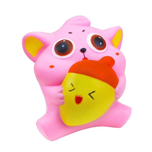 Изысканный Fun Мягкий Cat Мультфильм Squishy Медленный Восходящий Squeeze Игрушка Телефонные ремни Шариковые Моделирование Kawaii Squishies Cream Ароматические игрушки Fidget для детей и взрослых Кошка с рыбой