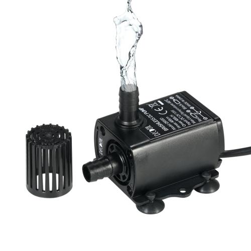 Decdeal Ultra-quiet Mini DC12V 10W Бесщеточный водяной насос с 5,5 * 2,1 мм Женский водонепроницаемый погружной фонтан Аквариум циркулирующий 400L / H Lift 400cm