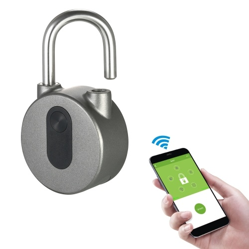 BT Smart Keyless Lock Impermeabile Pulsante APP / Fingerprint / Password Sbloccare Antifurto Lucchetto Porta Caso Locker Lock per Android Sistema iOS
