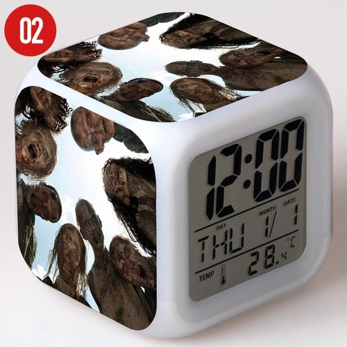 Walking of Dead Colorful Multi-Function Date Week Температура LED Светящийся цифровой будильник Cube Cute Toys