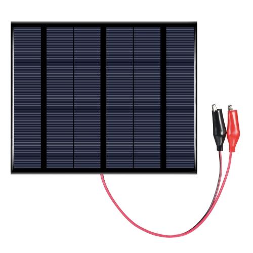 3.5W 18V Polycrystalline кремниевая панель солнечных батарей с аллигатором Clips Солнечная батарея для зарядного устройства DIY