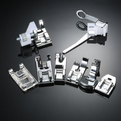 8pcs profesional de la máquina de coser doméstica prensatelas Set accesorios de repuesto del pie del dobladillo para el cantante Feiyue Janome Brother
