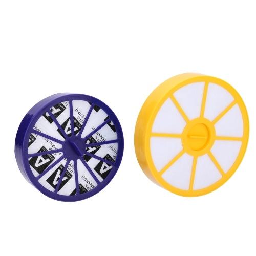 Желтый передний мотор Фиолетовый пост-мотор HEPA Фильтр Пылесос Аксессуары