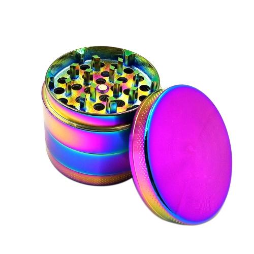 Cztery warstwy tytanu szlifierka ze stopów cynku Rainbow kolor metalowy papieros Spice Crusher Akcesoria do palenia Grinder