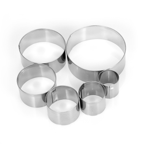 Round Stainless Steel Cookie Cutters Fondant Cutter Biscuit Cutters Sandwich Cutters Cookie Cutter Set