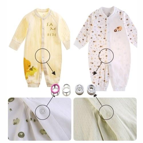 110pcs 9.5mm bunter runder Metallring-Knopf mit Befestigungs-Installations-Werkzeug für Kinder und erwachsene Kleidung