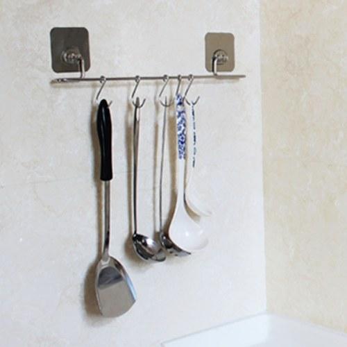 1 Paket 6 Haken Nahtlose Transparente Starken Selbstklebende Tür multifunktions Wandhaken Wiederverwendbare Schwere Aufkleber für Hängende Küche Bad
