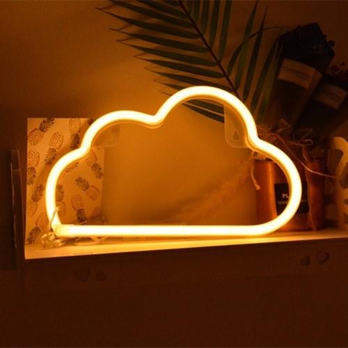 Lampa LED Neon USB Ładowanie dekoracyjne światło Ciepły biały obłok