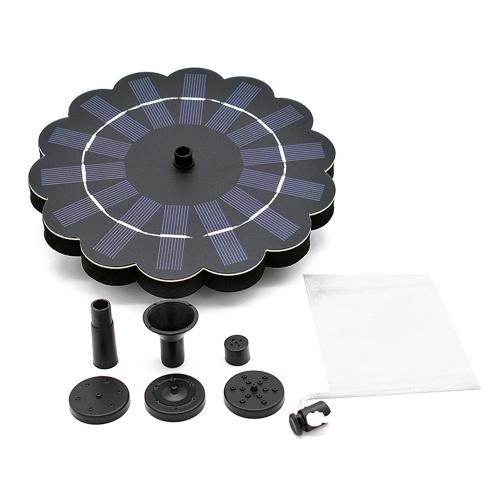 180L / H солнечный водяной насос Birdbath Fountain Pump со съемным водяным насосом 4-уровневый поток воды солнечной энергии фонтанный насос декоративный плавающий фонтан с сумкой Drawstring
