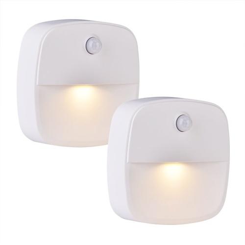 2-Pack теплый белый светодиодный датчик движения Stick-On Night Light
