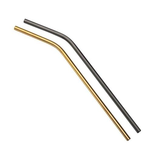 2pcs canudos de aço inoxidável reutilizáveis multicoloridos