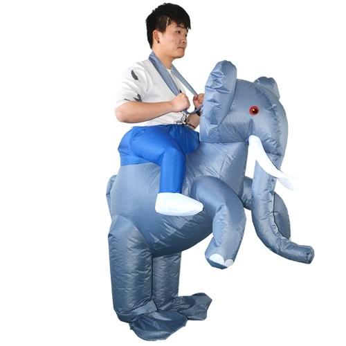 Costume gonflable d'élément de costume d'éléphant d'adulte gonflable déguisement