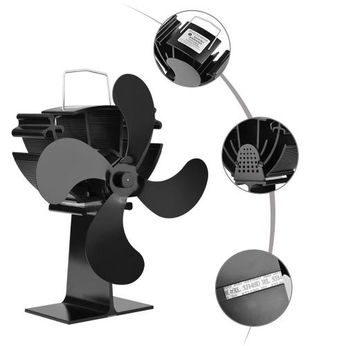 Ventilador de chimenea casero de 4 cuchillas Distribución eficiente de calor