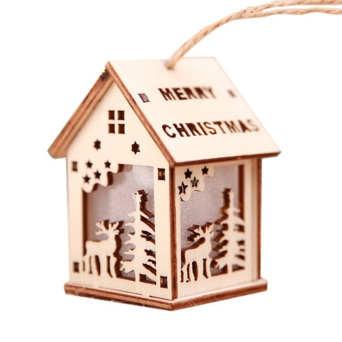 Christmas Decorative LED Light Wooden House