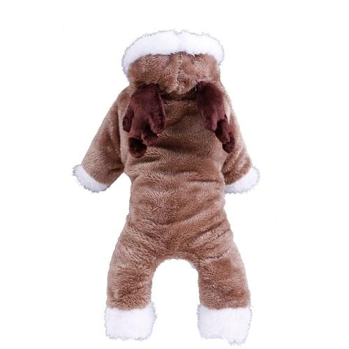 Macio Quente Cão Roupas Pet Vestuário Moletom Com Capuz Coral Velo Pequeno Cachorro Casaco Casaco